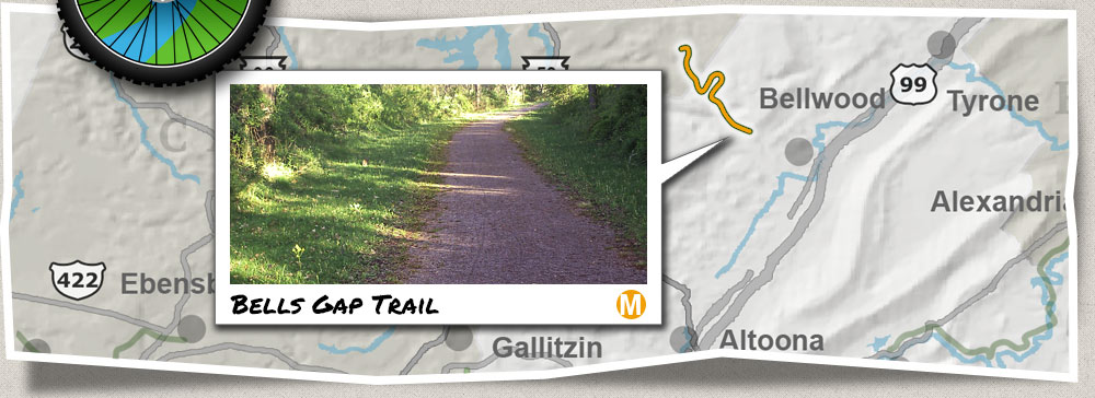 Bells Gap Trail, Biking, Hiking near Tyrone, Bellwood, Altoona
