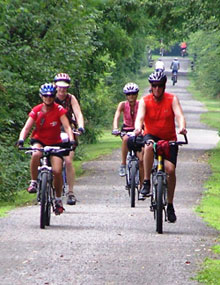 Cyclists on Bike Trail