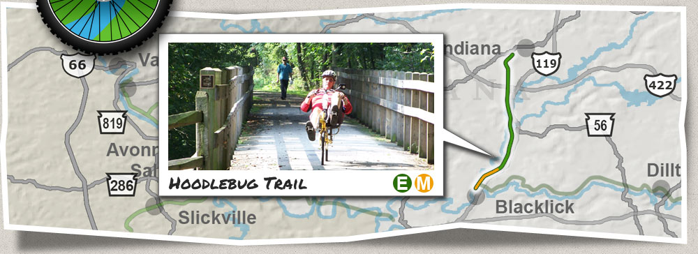 Hoodlebug Trail, Hiking, Bike Trail Blacklick to Indiana